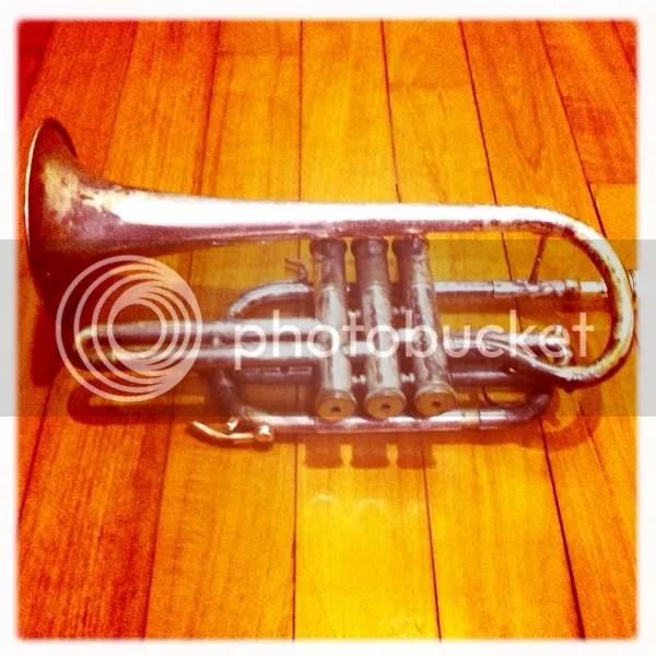 My newly minted cornet