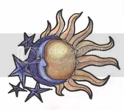 sun moon and star tattoo designs pics of female tattoos