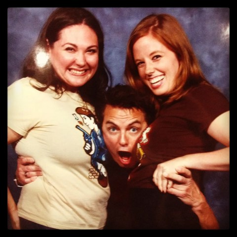Sage and Kim with John Barrowman