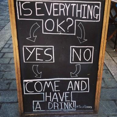 Everything Okay Pub Sign