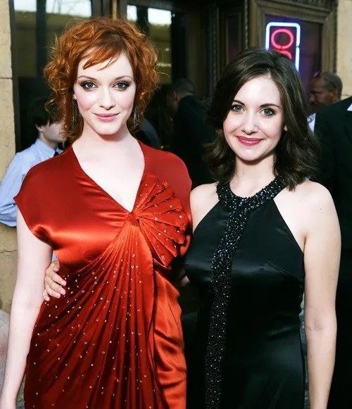 Christina Hendricks and Alison Brie