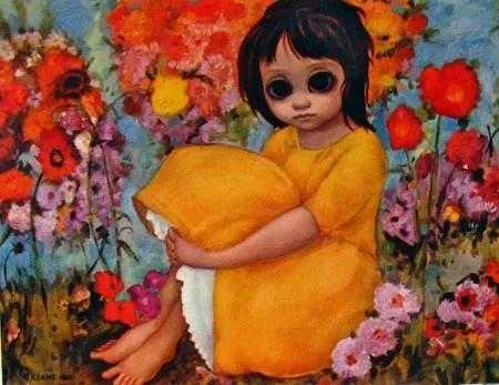 Margaret Keane Big Eyes Painting