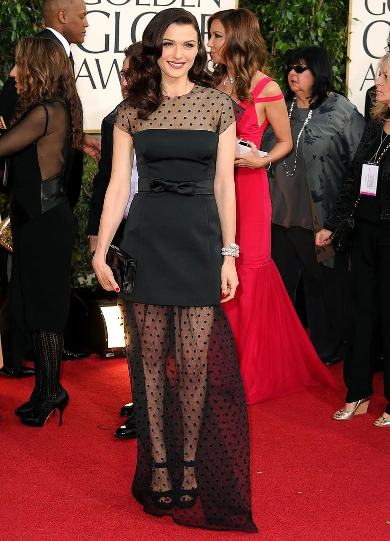 Rachel Weisz Golden Globes red carpet