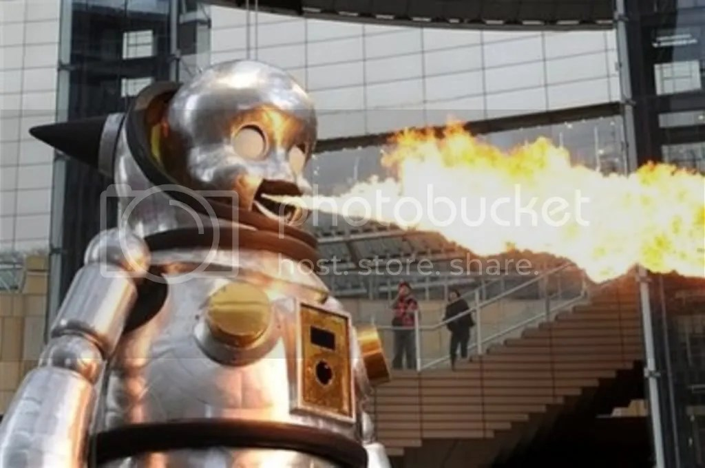 Giant Fire-breathing Robot Baby