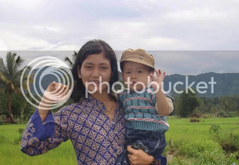 Juan dan Mamaknya saat mudik kemaren