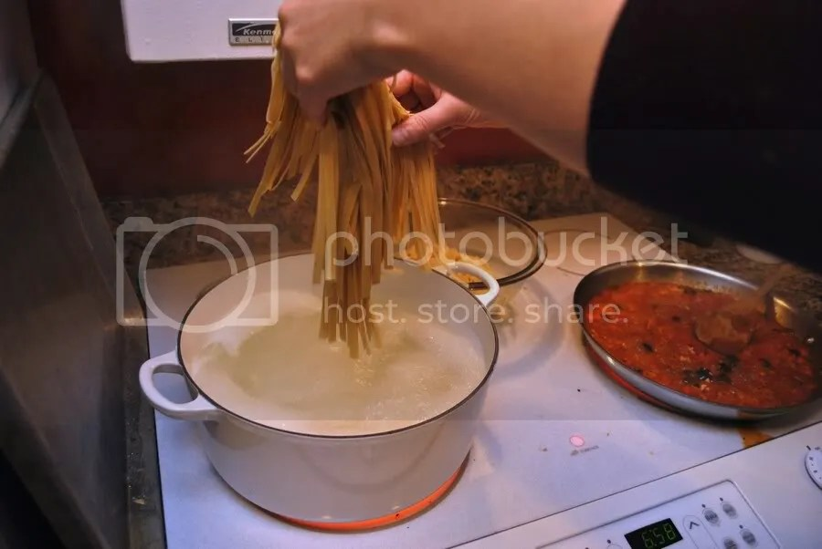Cooking fresh pasta
