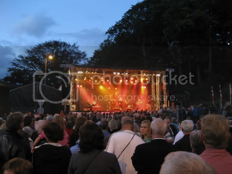 Stig Rossen giving a concert on the same stage upon which we performed in Silkeborg, Denmark