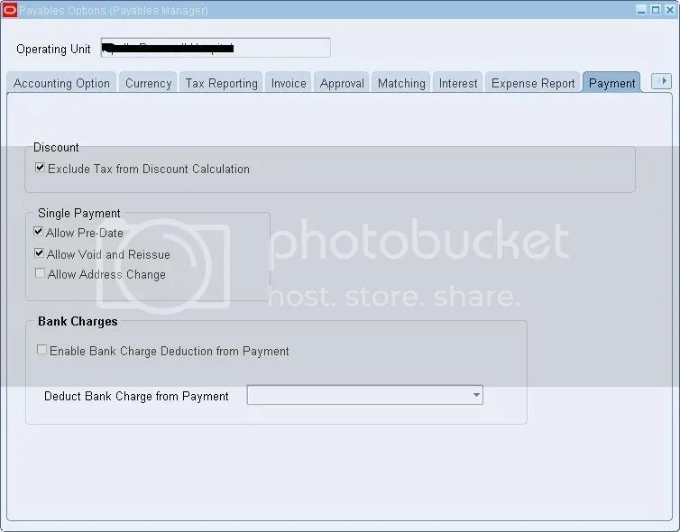 Payable Options: Payment