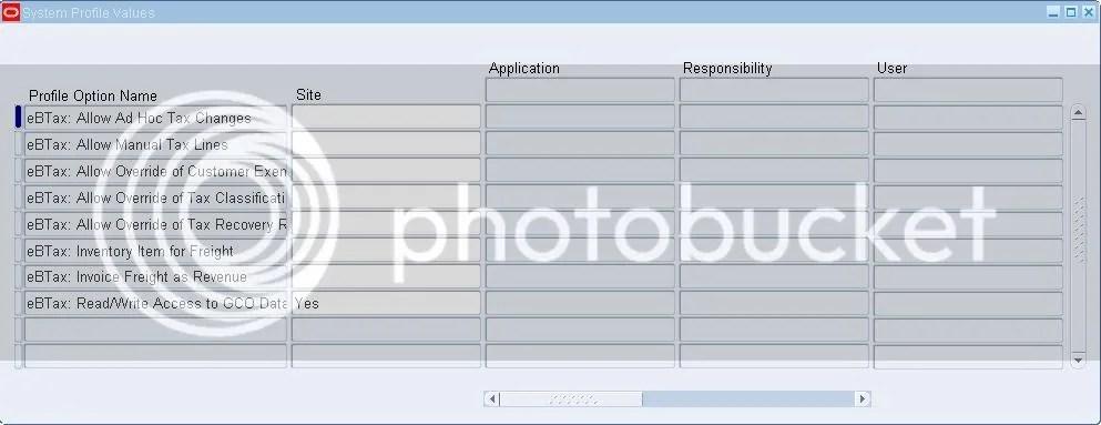 EBTax Profile Options