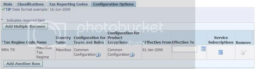 Party Tax Profile - Configuration Option
