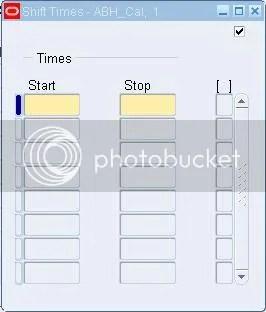 Shift Times
