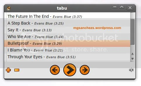 Tabu Audio Player