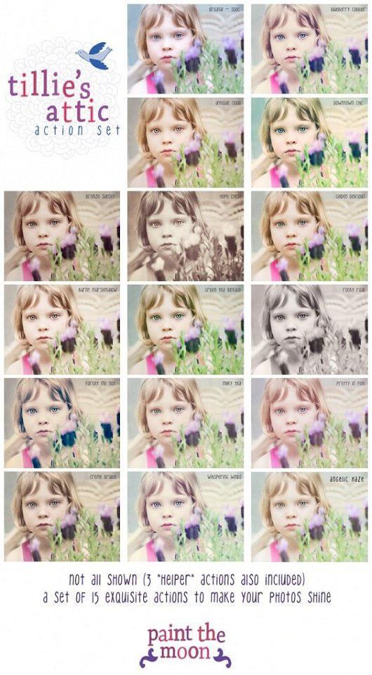 PTM Tillie's Attic Photoshop Action Set