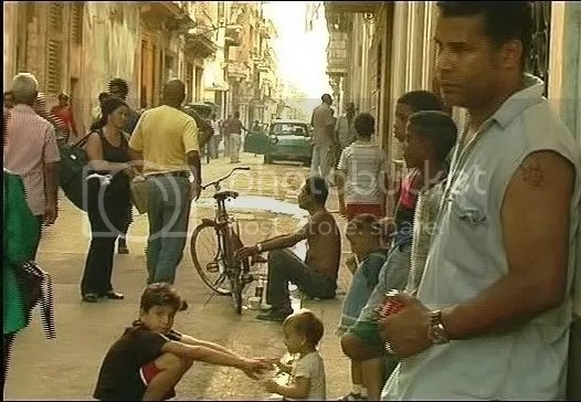 Luis Moro in the streets of Havana in the film Love and Suicide