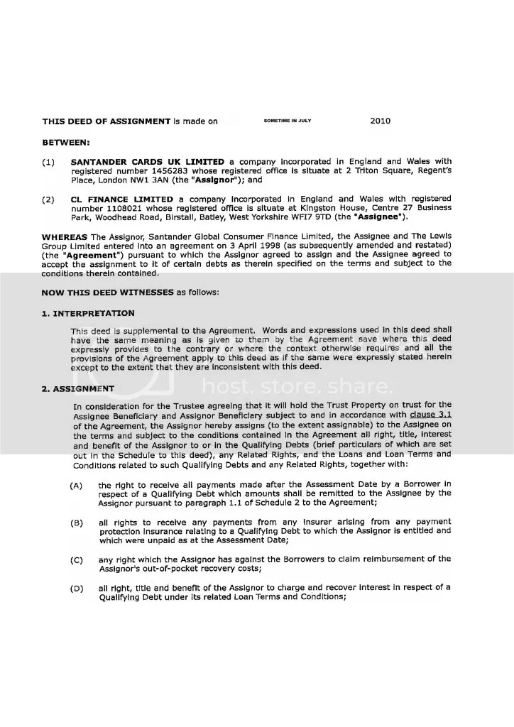 Deed Of Assignment Template deed of assignment of contract a deed – Deed of Indemnity
