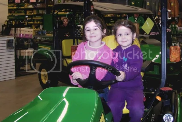 Girls on Tractor