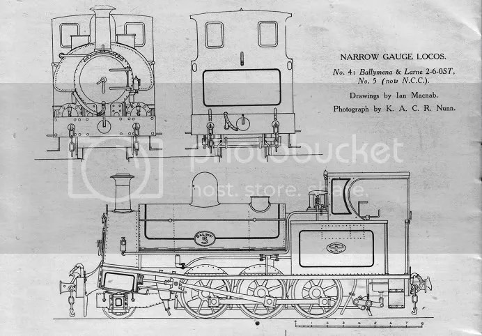 Ballymena & Larne Railway Beyer Peacock 2-6-0ST (originally published in Railways, no. 44, Dec. 1943, page 190