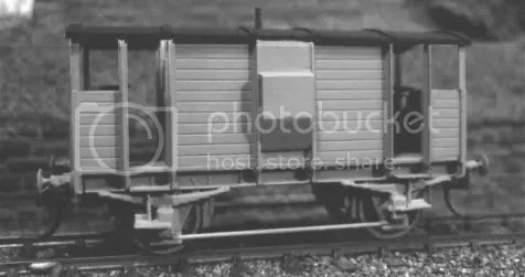 HO scale GSWR 12t brake van by Paul Taylor