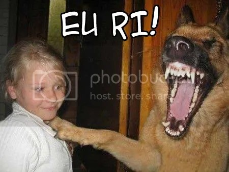 KKKKKKKKKKKK' Cachorro com uma dentuçaa..
