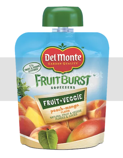 Del Monte Fruit Burst Squeezers -Peach-Mango