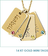 14kt Gold Mini Tags