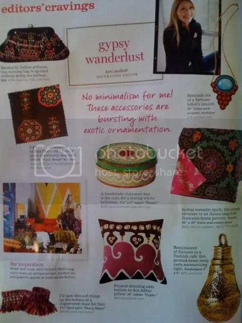 The Estate of Things chooses Domino Magazine Gypsy Wanderlust