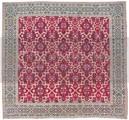 photo Millefleur-Star-Lattice-carpetLate17thEarly18thCenturyMughalIndia.jpg