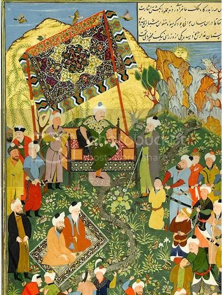 photo AttributedToMahmudMuzahhi16th-centuryCopyOfSarsquodirsquosGulistanTheCapturedArabRobbersBeforeTheKing.jpg
