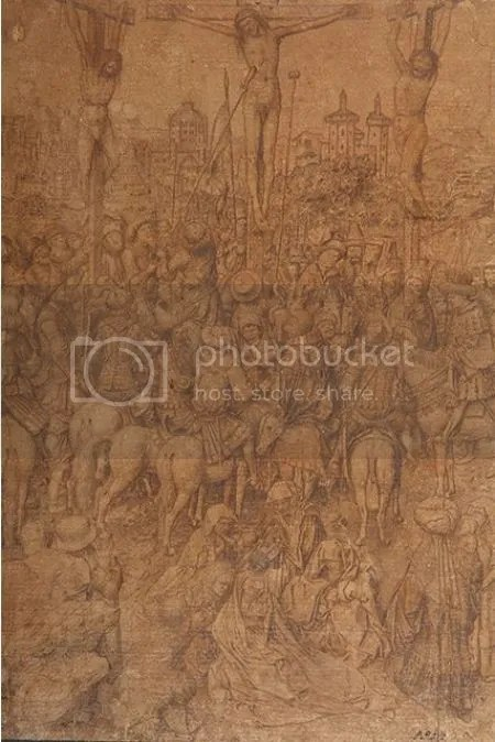 photo JanVanEyckWorkshopOrFollowerCrucifixionC1440-80GoldpointSilverpointPenAndBlackInkIndentedForTransferOnGreyPreparedPaper.jpg