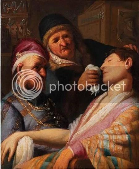 photo RembrandtHarmenszoonVanRijnTheUnconsciousPatientSmellCa1621-1626OilOnPanel.jpg