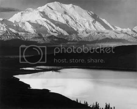photo AnselAdamsMountDenaliAndWonderLakeDenaliNationalParkAlaska1948.jpg