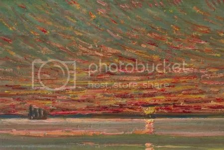 photo ChildeHassamSunsetSky1905OilOnWoodPanel.jpg