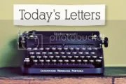 Today's letters