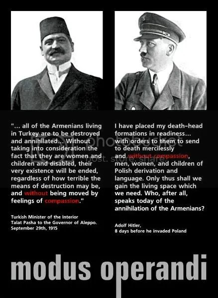 Who speaks today of the annihilation of the Armenians? (Hitler, Aug. 1939)