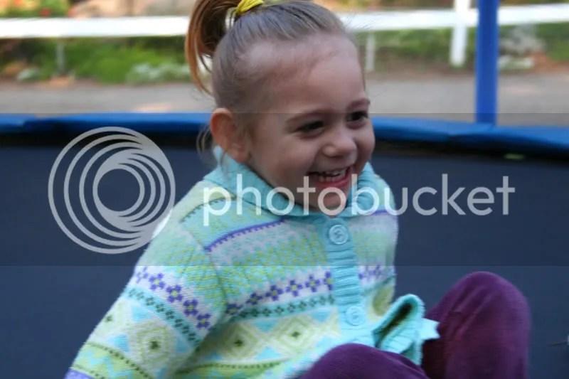 kayla on the trampoline