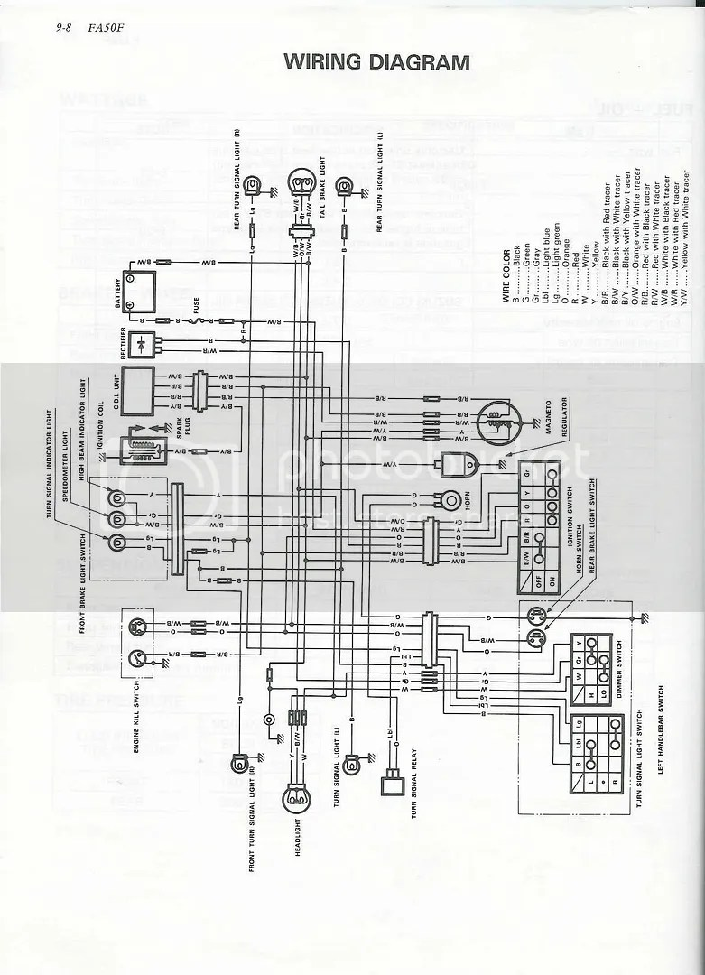 Re Desperately Need A Suzuki Fa50 Wiring Diagram