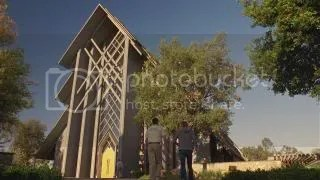 Interior and Exterior of the FOTS Church- Christianity Meets Middle-earth