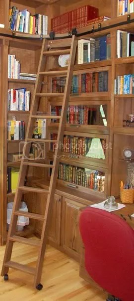 library ladder photo: Second Floor Office garretson-home-library-ladder-large.jpg