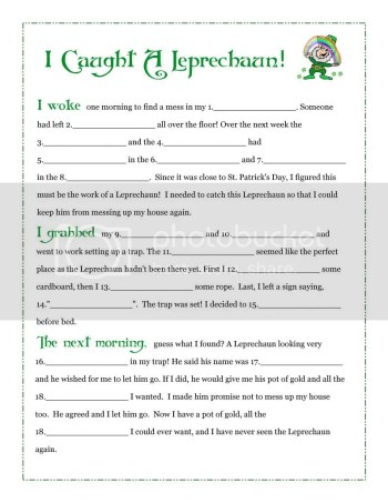 It's just a picture of Divine Printable Leprechaun Story