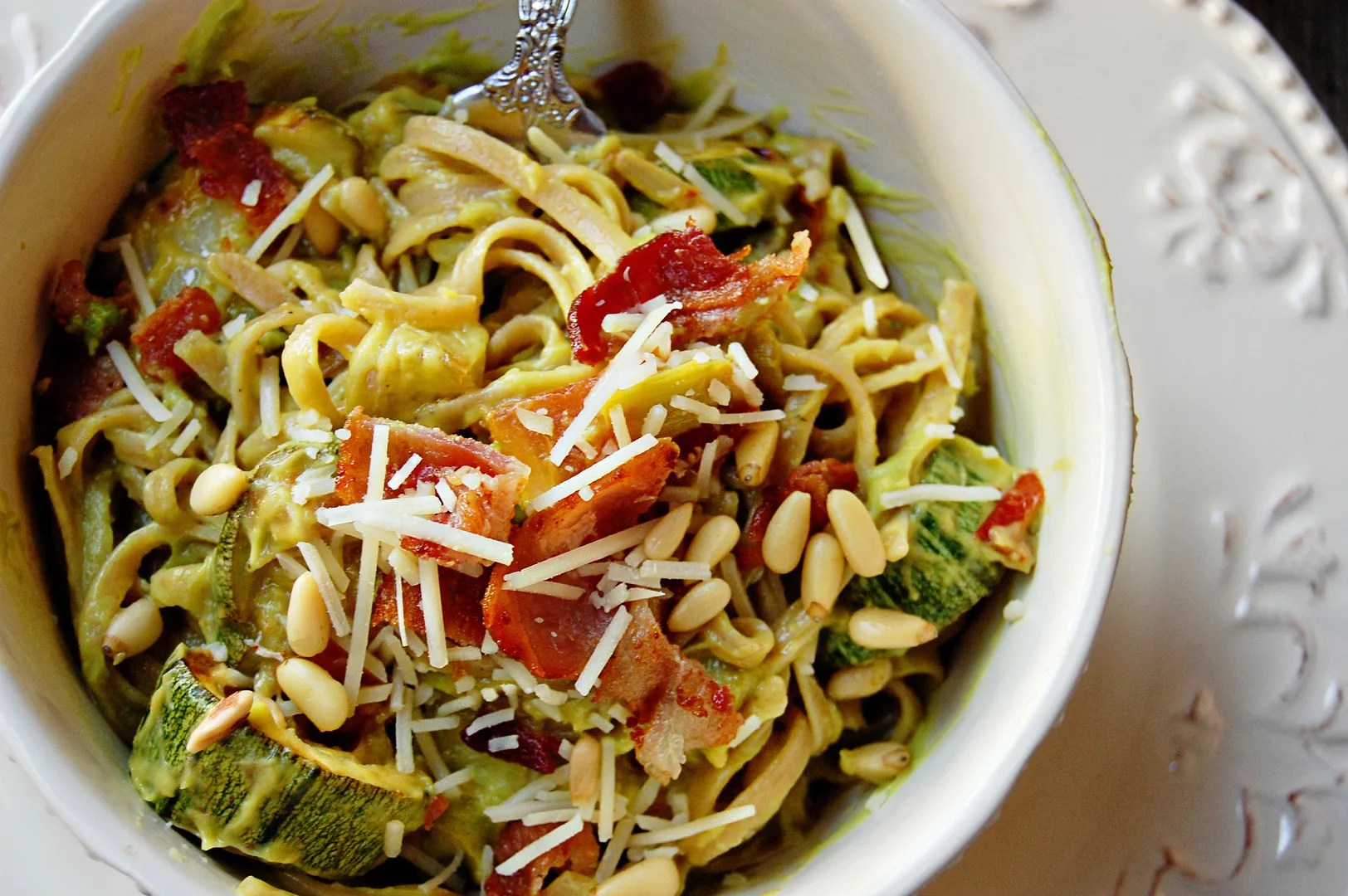 Bacon Avocado Tomato Pasta