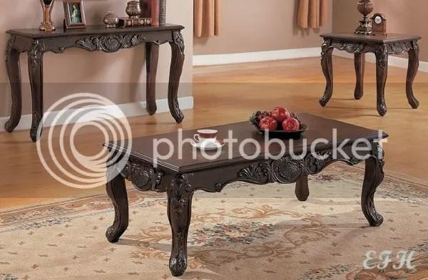 Dark Wood Coffee Table Sets