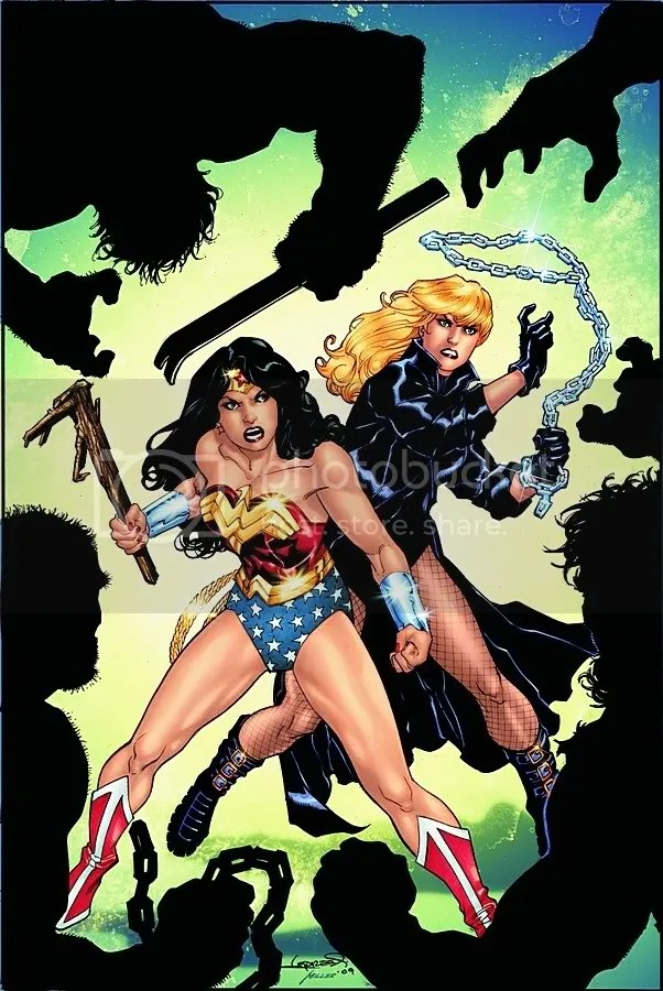 Wonder Woman brought a stick and the others have chains and pry bars. Nice plan there WW