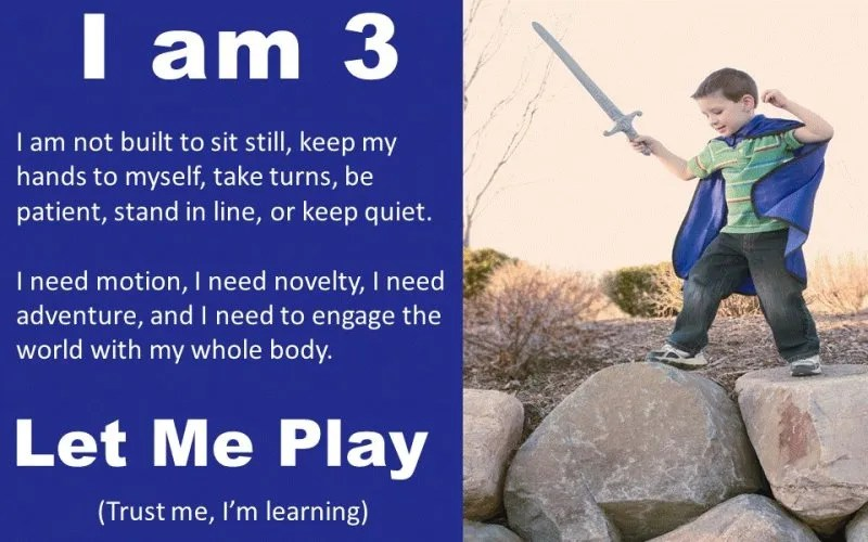 I am 3 - let me play poster