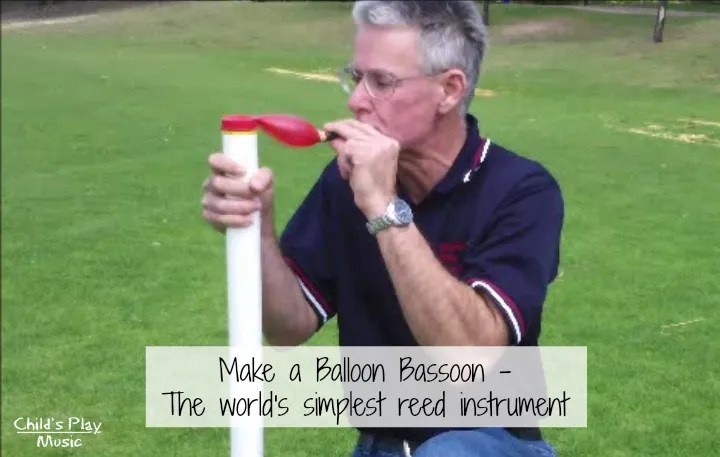 Make a balloon bassoon