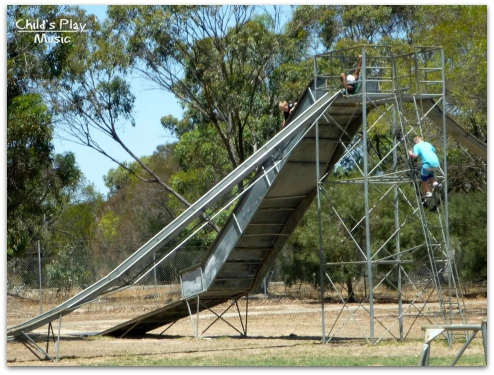 3-way slide at Katanning All Ages Playground