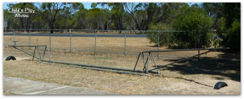 Hinged see-saw where the riders are as far apart as possible, at Katanning All Ages Playground