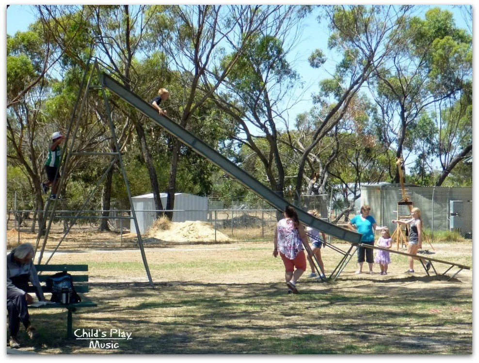 Side view of stepped ripple slide at Katanning All Ages Playground