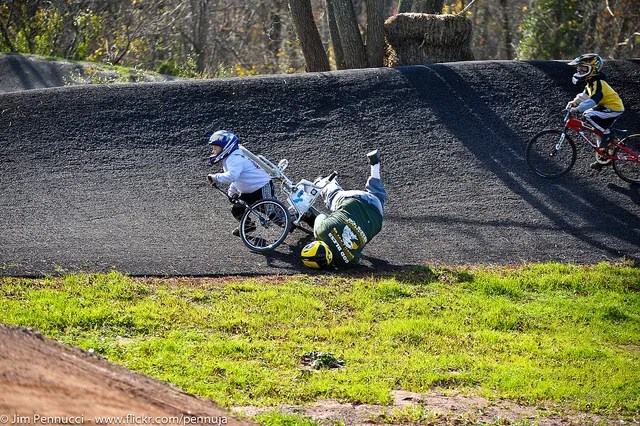 BMX Race fall