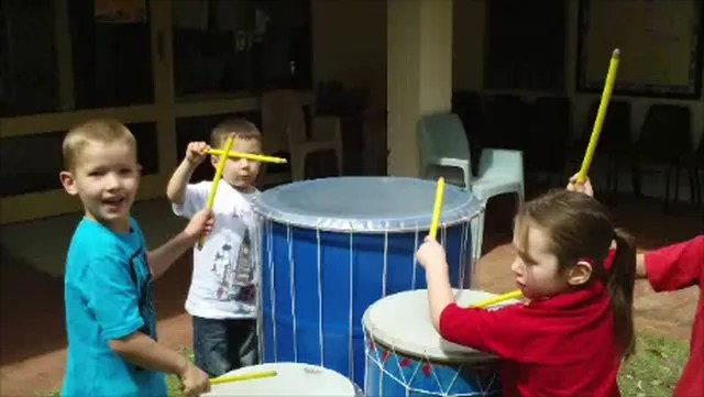 Children playing my drums. FUN = LEARNING!