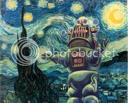 Van Gogh Bot, selfportrait (Diesel)